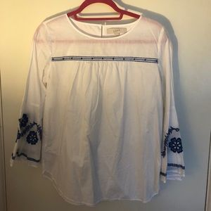 Loft Blue embroidered blouse
